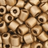 Tube Beads 5.7mm with 2mm Hole Metallic Gold Dyed